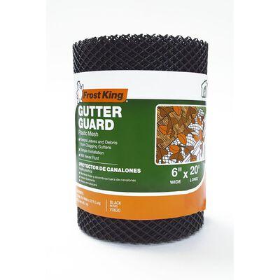 Frost King Plastic Mesh Gutter Guard Black