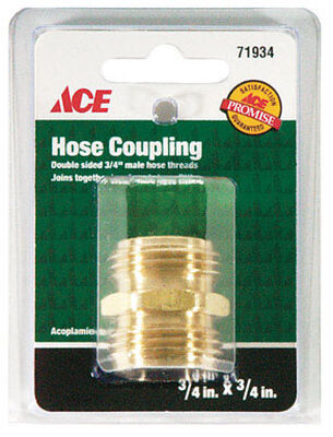 Ace 3/4 in. x 3/4 in. Brass Hose Coupling Male Threaded