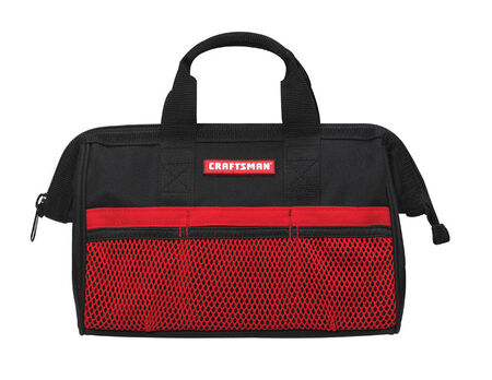 Craftsman Ballistic Nylon Tool Bag 13 in. H 1 inside pockets 3 outside pockets