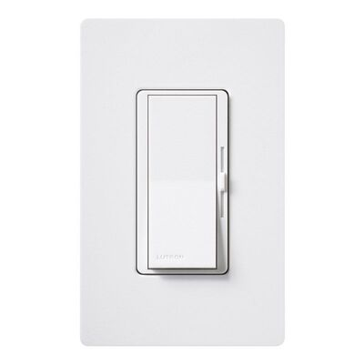 Lutron Diva 1.25 amps 125 watts Three-Way Dimmer Switch White