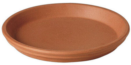 Deroma Terracotta Clay Traditional Plant Saucer 1.2 in. H x 10 in. W