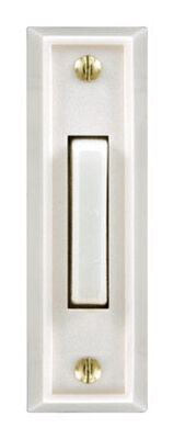 Heath Zenith White Wired Pushbutton Doorbell
