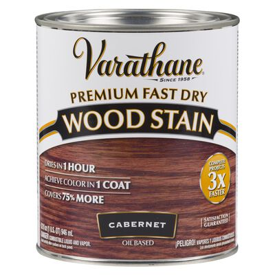 Varathane Premium Fast Dry Semi-Transparent Oil-Based Wood Stain Cabernet 1 qt.