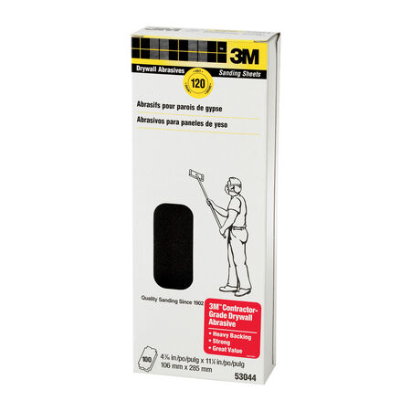 3M 11-1/4 in. L x 4-3/16 in. W 150 Grit Silicon Carbide Drywall Sanding Sheet 5 pk