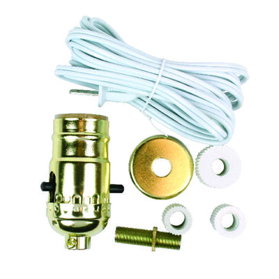 Jandorf Bottle Adapter Lamp Kit White 8 in. H 1 pk