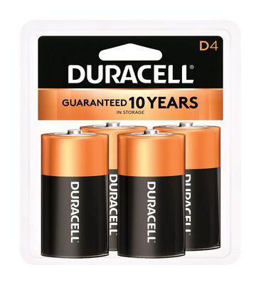 Duracell Coppertop D Alkaline Batteries 1.5 volts 4 pk