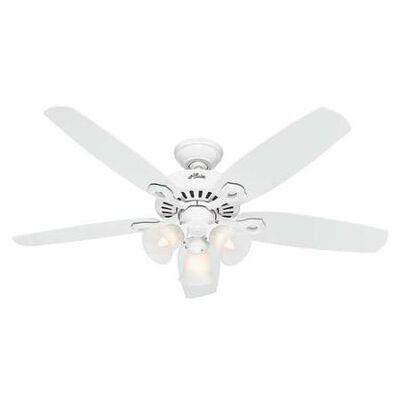 Hunter Fan Builder Plus Ceiling Fan 52 in. W Snow White