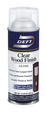 Deft Wood Finish Lacquer Spray Gloss 12-1/4 oz.