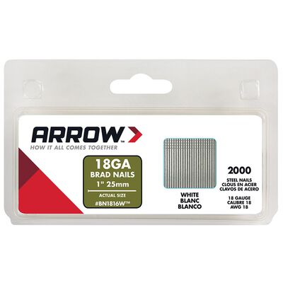 Arrow BN18 18 Ga. x 1 in. L Galvanized Steel Trim 2000 pk Brad Nails
