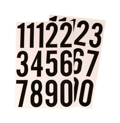 Hy-Ko Self-Adhesive Black Reflective Vinyl Number Set 0-9 3 in.