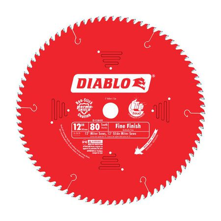 Freud Diablo 12 in. Dia. 80 teeth Carbide Tip Titanium Finishing Saw Blade For Cutting Wood