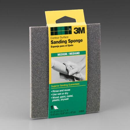 3M 5-1/2 in. L x 4-1/2 in. W x 3/16 in. Medium Contour Sanding Sponge