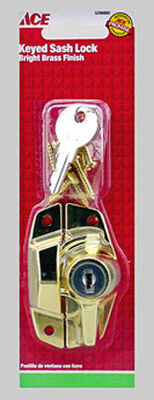 Ace Bright Brass Brass Keyed Sash Lock 1