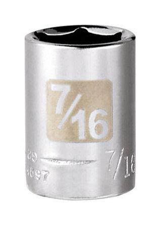 Craftsman 7/16 Alloy Steel 1/4 in. Drive in. drive Socket Standard