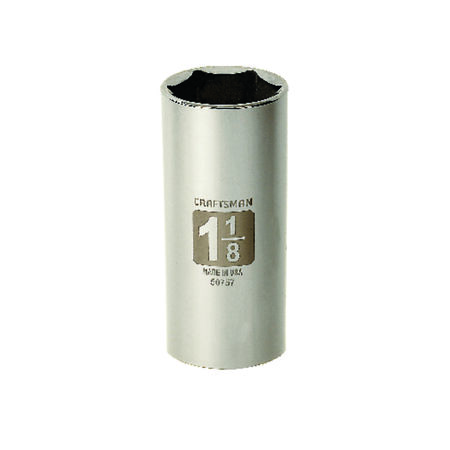 Craftsman 1-1/8 in. x 1/2 in. drive SAE 6 Point Deep Socket 1 pc.