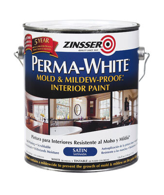 Zinsser Perma-White Interior Acrylic Latex Mold and Mildew-Proof Paint White 1 gal.