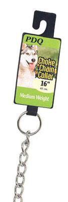 PDQ Chrome Steel Choke Chain Dog Collar 2.5 mm W 16 in.