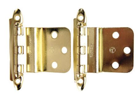 Amerock 2-3/4 in. L Non-Self-Closing Hinge Bright Brass