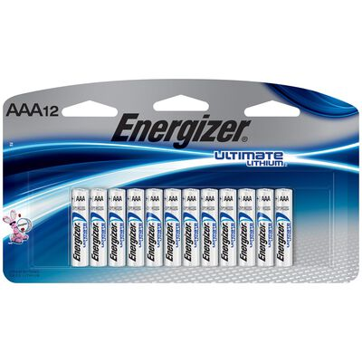 Energizer Ultimate AAA 1.5 volts Lithium Ion Batteries 12 pk