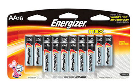 Energizer Max AA Alkaline Batteries 1.5 volts 16 pk
