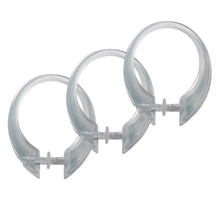 Excell Deluxe Button-Up Shower Curtain Rings 1-5/8 in. L Plastic 12 pk