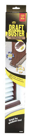 M-D Building Products Draft Buster Foam/Cloth 3 ft. L x 3-11/32 in. Door and Window Seal Brown