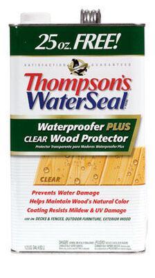Thompson's Waterseal Oil-Based Waterproofer Wood Protector Clear 1.2 gal.