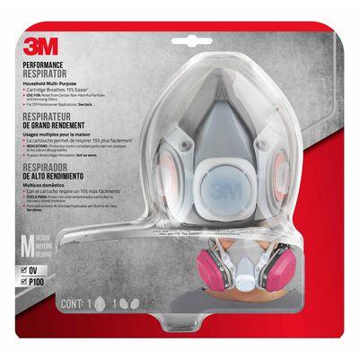 3M Household Half-Face Mask Respirator 1 pk