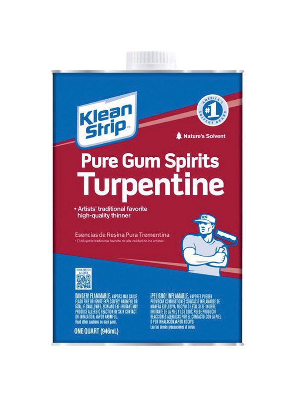 Klean Strip Pure Gum Spirits Turpentine Paint Thinner 1 qt
