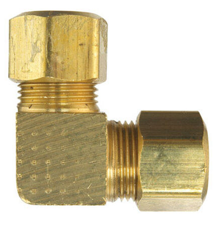 Ace 3/8 in. Dia. Compression To Compression To Compression 90 deg. Yellow Brass Elbow