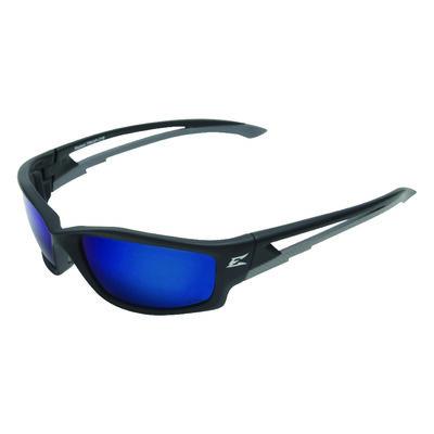 Edge Eyewear Kazbek Multi-Purpose Safety Glasses Antifog Polarized Blue Lens Black Frame Bulk