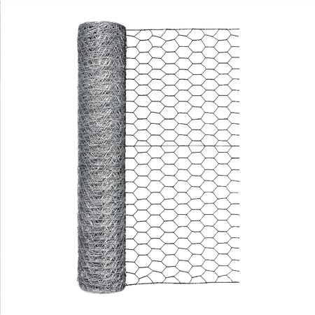Garden Zone Poultry Netting 24 in. H x 50 ft. L 20 Ga. Silver