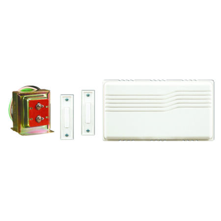 Heath Zenith White Wired Door Chime Kit