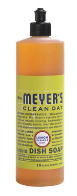 Mrs. Meyer's 16 oz. Lemon Verbena Scent Liquid Dish Soap