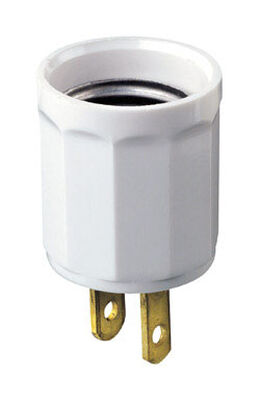 Leviton Polarized Outlet/Socket Adapter White 15 amps 125 volts 1 pk