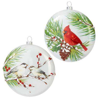 "5"" Bird Disc Ornament"