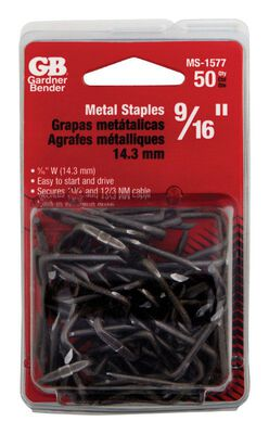 GB 9/16 in. W Metal Insulated Cable Staple 50