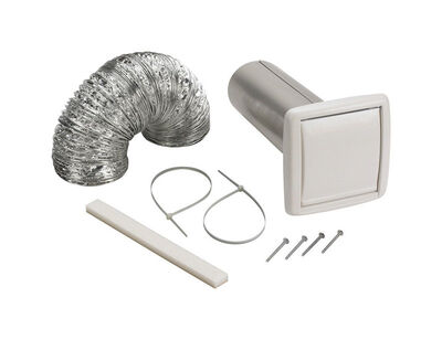 Broan Wall Ducting Kit 4 in. W White