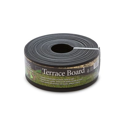 Master Mark Terrace Board 4 in. H x 40 ft. L Black Plastic Lawn Edging
