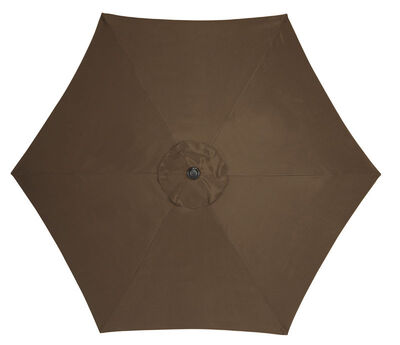 Living Accents 9 ft. Dia. Tiltable Patio Umbrella Chocolate