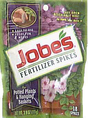 Jobe's Plant Food For Potted Plants Hanging Baskets 18 pk