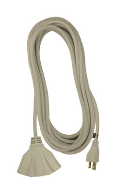 Ace Indoor and Outdoor Triple Outlet Cord 16/3 SJTW 35 ft. L Beige
