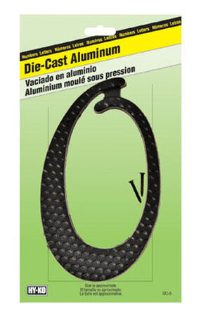 Hy-Ko Nail On Black Aluminum Number 0 4-1/2 in.