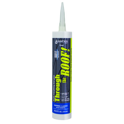 Sashco Through The Roof Elastomeric Roof Sealant 10.5 oz. Clear