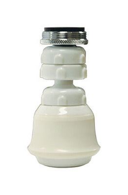 Danco Swivel Sprayrator 15/16in. - 27M or 55/64in. -27F White