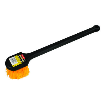 Rubbermaid Long Handle Plastic Scrub Brush 3-1/2 in. W