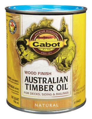 Cabot Wood Finish Transparent Oil-Modified Australian Timber Oil Natural 1 qt.