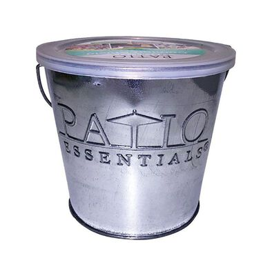 Patio Essentials Galvanized Citronella Oil Candle Bucket 17 oz.