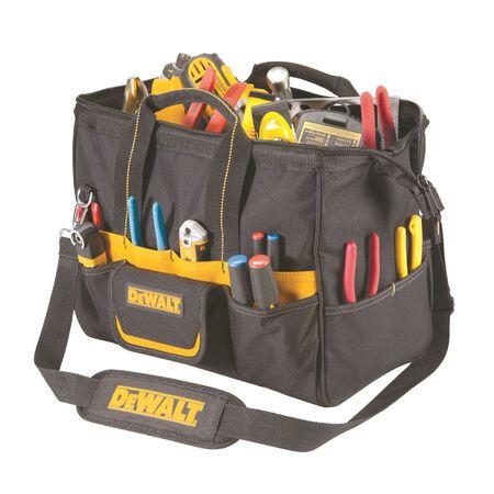 DeWalt Heavy Duty Poly Fabric Tool Bag 16 in. H 13 inside pockets 20 outside pockets