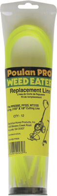 Weed Eater Poulan PRO Trimmer Line 0.115 in. Dia. x 18 in. L 12 pk